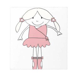 Ballerina Girl Notepads