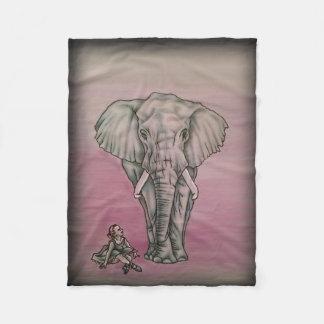 Ballerina Girl with Elephant Fleece Blanket