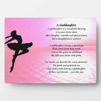 Ballerina Goddaughter Poem Plaque