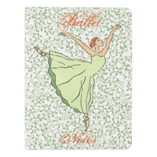 Ballerina Grace Dances Extra Large Moleskine Notebook