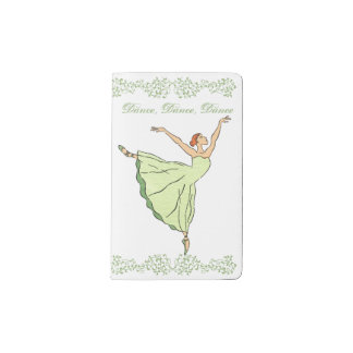 Ballerina Grace  Dances Pocket Moleskine Notebook