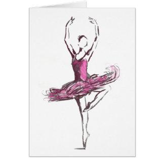 Ballerina Greetings Card. Card