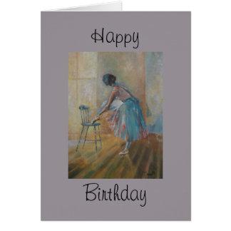 Ballerina Happy Birthday Card