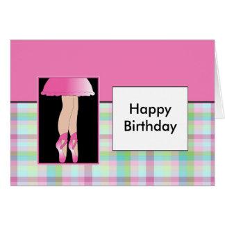 Ballerina - Happy Birthday Card
