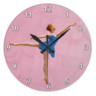 Ballerina in Arabesque Customizable Clocks