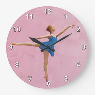 Ballerina in Arabesque Customizable Large Clock