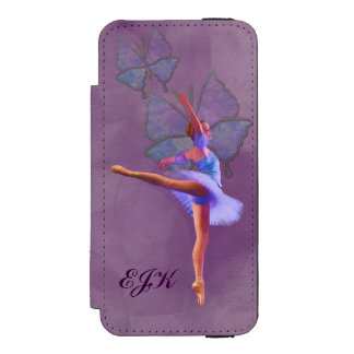 Ballerina in Arabesque Position, Monogram Incipio Watson™ iPhone 5 Wallet Case
