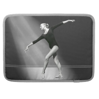 Ballerina in Black and White Customizable Sleeve For MacBook Pro