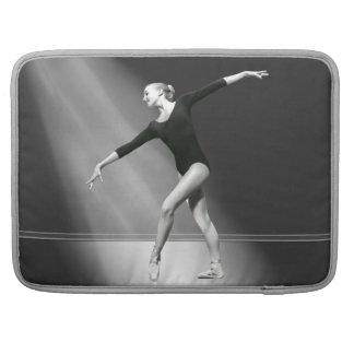 Ballerina in Black and White Customizable Sleeve For MacBooks