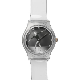 Ballerina in Black and White Customizable Watch