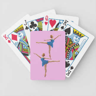 Ballerina in Blue in Arabesque Position Bicycle Playing Cards