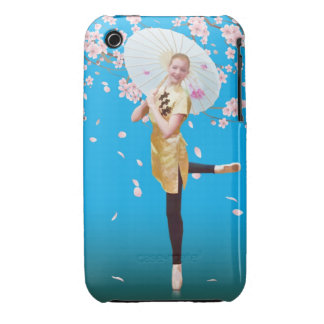 Ballerina in Cherry Blossoms iPhone 3 Case-Mate Cases