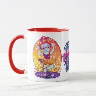 Ballerina in Glasses with Kingdom of Cool logo Mug