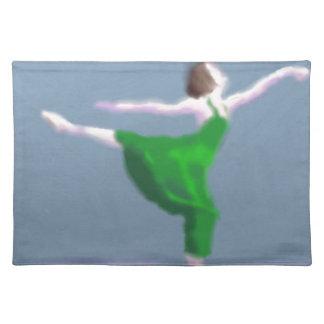 Ballerina in Green Art Placemat