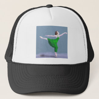 Ballerina in Green Art Trucker Hat