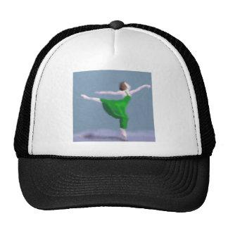 Ballerina in Green Art Trucker Hat