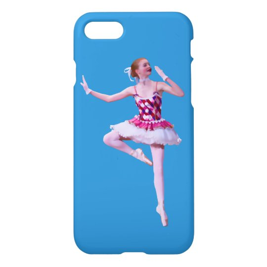 Ballerina in Pink and White iPhone 7 Case