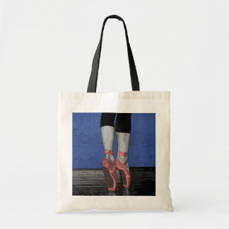 Ballerina in Pink Pointe Shoes Tote Bag