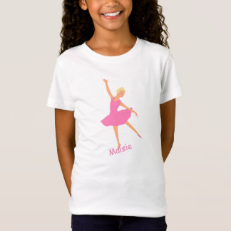 Ballerina In Pink Tutu add name T-Shirt