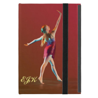 Ballerina in Red, Monogram Cover For iPad Mini