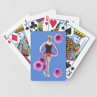 Ballerina in Red with Chrysanthemums, Monogram Bicycle Playing Cards