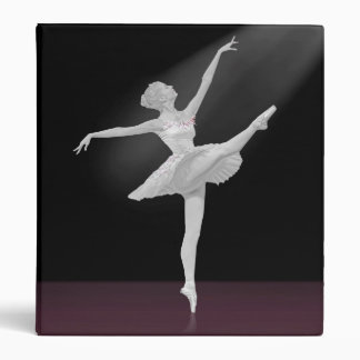 Ballerina in Silver and Black Vinyl Binders