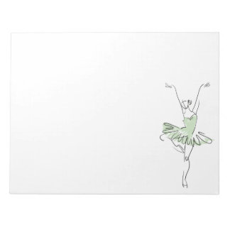 Ballerina in Soft Green Notepad