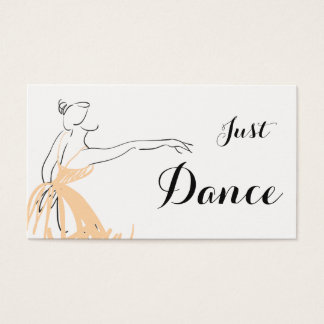 Ballerina in Soft Peach Business Card