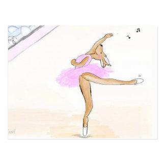 Ballerina Kängaru dancing dear postcard