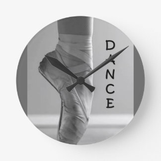 BALLERINA LOVES DANCE WALL CLOCK
