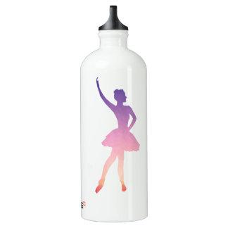 Ballerina low poly geometric silhouette modern water bottle