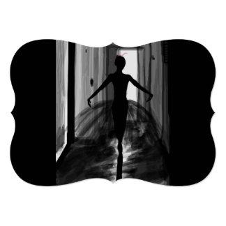 """Ballerina Matte 5"""" x 7"""", Standard white envelopes Card"""