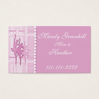 Ballerina Mommy Calling Card