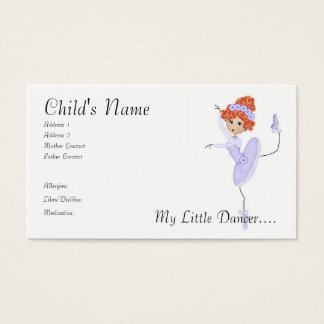 Ballerina Mommy/Daddy Cards