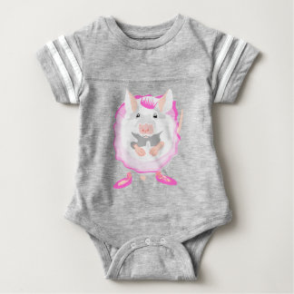 ballerina mouse baby bodysuit