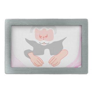 ballerina mouse rectangular belt buckles