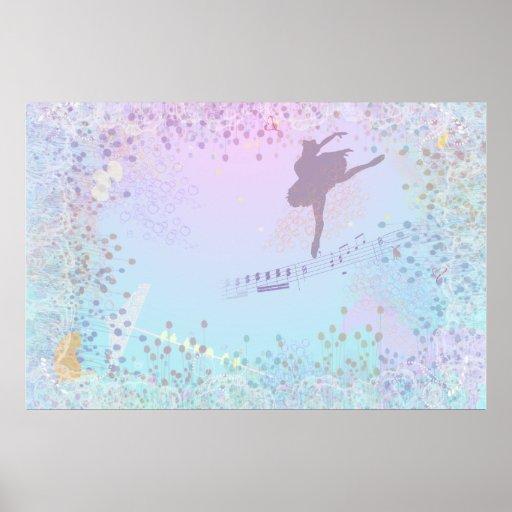 Ballerina, Music, Cat, Horse fantasy for girls Poster