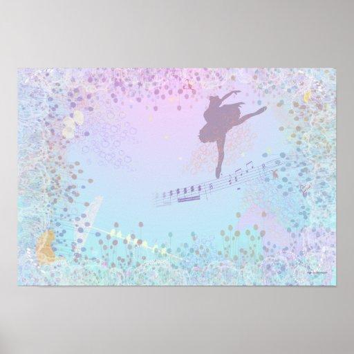 Ballerina, Music, Cat, Horse fantasy for girls Print