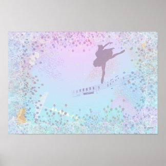 Ballerina Music Cat Horse fantasy for girls Print