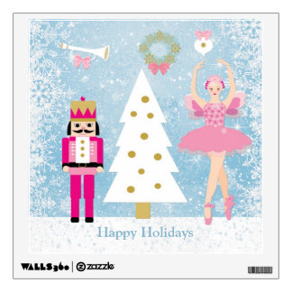 Ballerina, Nutcracker, Christmas tree wall decal