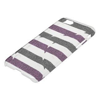 Ballerina Outline, Glitter Stripes monogram iPhone 8/7 Case