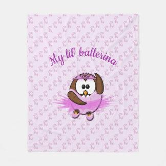 ballerina owl - blanket