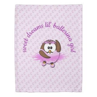 ballerina owl - duvet cover