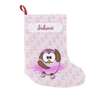 ballerina owl small christmas stocking