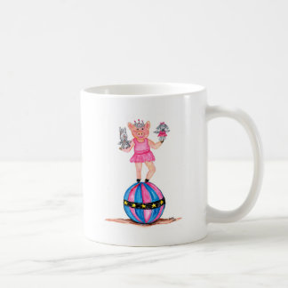 Ballerina Pig with Performing Poodles Coffee Mug