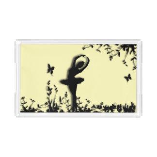 Ballerina Pirouette in Garden Yellow Acrylic Tray