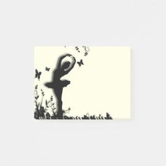 Ballerina Pirouette in Garden Yellow Post-it Notes