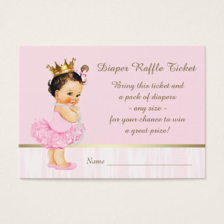 Ballerina Princess Diaper Raffle Ticket