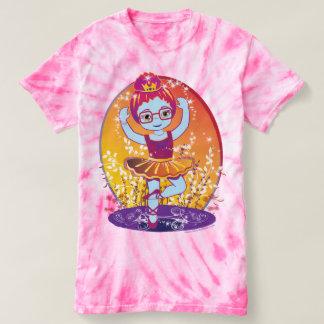 Ballerina Princess with Glasses Tie-Dye T-shirt