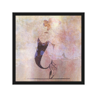 Ballerina Red Hair Woman Body Pink Rose Gold Canvas Print
